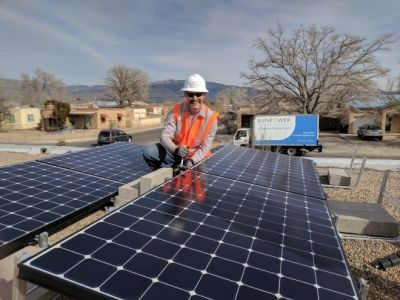 New Mexico solar panel installation